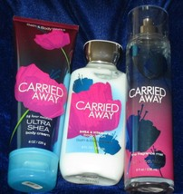 Bath and Body Work 'CARRIED AWAY' Fragrance Mist,Body Cream & Lotion Ful... - $32.62