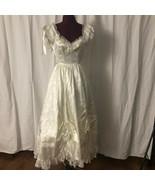 Vintage Gunne Sax Southern Belle Edwardian Bridal Dress Renaissance Gown... - $225.00