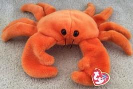 "1999 Ty Digger The Orange Crab Beanie Buddy w/Tags Plush Stuffed Large 14"" - $12.86"