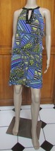 Muse Multi-Color Jeweled Neckline Halter Dress Size 6 NWT - $26.53
