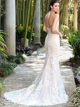 Luxurious Dazzling Strapless Sweetheart Lace Appliques Mermaid Wedding Dress image 3