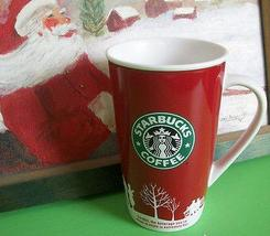 Starbucks Coffee Mug Holiday 2006 16 oz. Tall Mug Green Logo Crown Star - $25.00