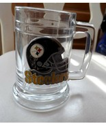NFL PITTSBURGH STEELERS HEAVY GLASS AND PEWTER BEER MUG/STEIN  2002 - $15.00