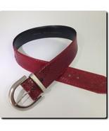 Harve Benard Vintage Red Snakeskin Belt accessory S 36 X 2 - $17.35