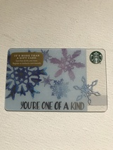 Starbucks Gift Card - NEW - YOU'RE ONE OF A KIND SNOWFLAKES 2016 - $1.19