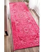 Traditional Area Rugs Pink Fashion Vintage Rugs Oriental Persian Look Sh... - $87.60