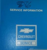 1986 GM Chevrolet Chevy Corvette Service Shop Werkstatt Repair Manuell O... - $64.29