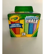 Crayola Washable Sidewalk Chalk In Assorted Colors 24 Count Free Shipping! - $14.94