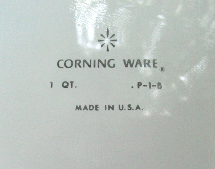 "CORNING ""BLUE CORNFLOWER"" 1 QT CASSEROLE DISH P-1-B WITH LID"