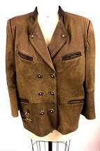 Trachtenjacke Lederjacke Janker Solo Die Tracht Leather Jacket M L 38 Wo... - $114.16