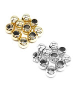 Ana Beauty Metal Ball Braids Beads Hair Accessories Ring Gold Silver 10P... - $1.50