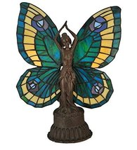 "Meyda Tiffany 48019 Butterfly Lady Accent Lamp, 17"" Height - $178.20"