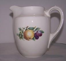 """Vintage Cream Porcelain Small Pitcher Fruit 6"""" Grapes Decorative Collect... - $8.99"""