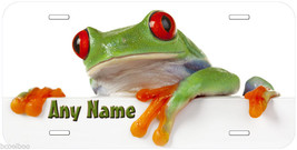 Red Eye Frog Personalized Any Name Novelty Car License Plate P07 - $14.95