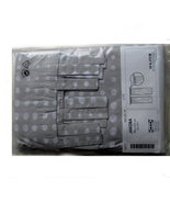 Ikea Jakoba tab top curtains one pair new 35X89 polka dots - $24.95