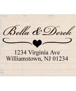 custom name self inking personalized family wedding return address rubbe... - $7.91