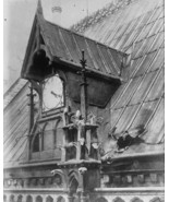 Bomb damage on roof of Notre Dame Cathedral Paris World War I WWI 8x10 P... - $6.61
