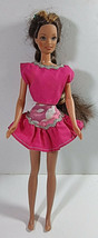 Vintage Barbie Doll Clothing Outfit Mattel Pink Skirt Top Silver Trim Shirt Lot - $7.99