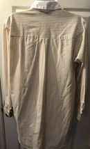 Vtg DIANE VON FURSTENBERG Striped Button Down Shirt DVF White Tan Blouse Top 14 image 5