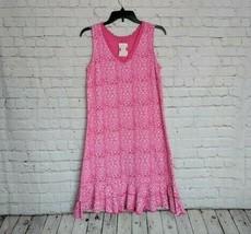 Fresh Produce | Pink Geo Wave Sunrise Dress Size XS - Sleeveless A-Line $59 - $42.56