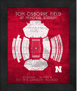 "Nebraska Cornhuskers Osborne ""Retro"" Stadium Seating Chart 13x16 Framed ... - $39.95"