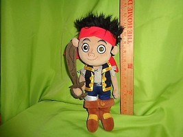 Disney Jake And The Neverland Pirates Jake With Sword Plush Stuffed Toy Doll - $14.35