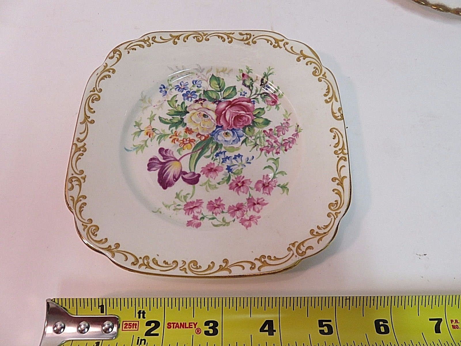 """RARE Royal Albert Nosegay square plate 6"""" Vintage Perfect Condition"""