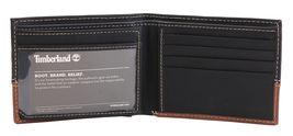 Timberland Men's Genuine Two Tone Leather Credit Card Billfold Commuter Wallet image 13