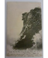VINTAGE RPPC REAL PHOTO POSTCARD OLD MAN OF THE MOUNTAIN FRANCONIA NH 1096 usage - $19.79