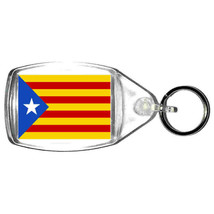 keyring double sided catalan country flag design, keychain