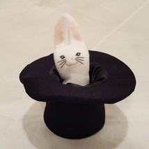 "Bunny Rabbit in Hat Finger Puppet Magician  4"" Stuffed Animal - $8.00"