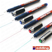 Edding 1800 Profipen Pigment Liner Drawing Pen - 0.1mm - [Set of 4 - Bla... - $21.99