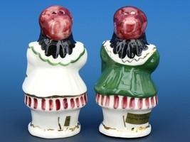 Vintage Novelty Salt & Pepper Shaker Set Poinsettia Studios California Pottery image 2