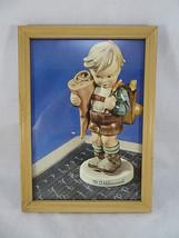 """M.J. Hummel Print of Figurine Boy Framed Wood Picture Frame Vintage 6""""1/... - $20.00"""