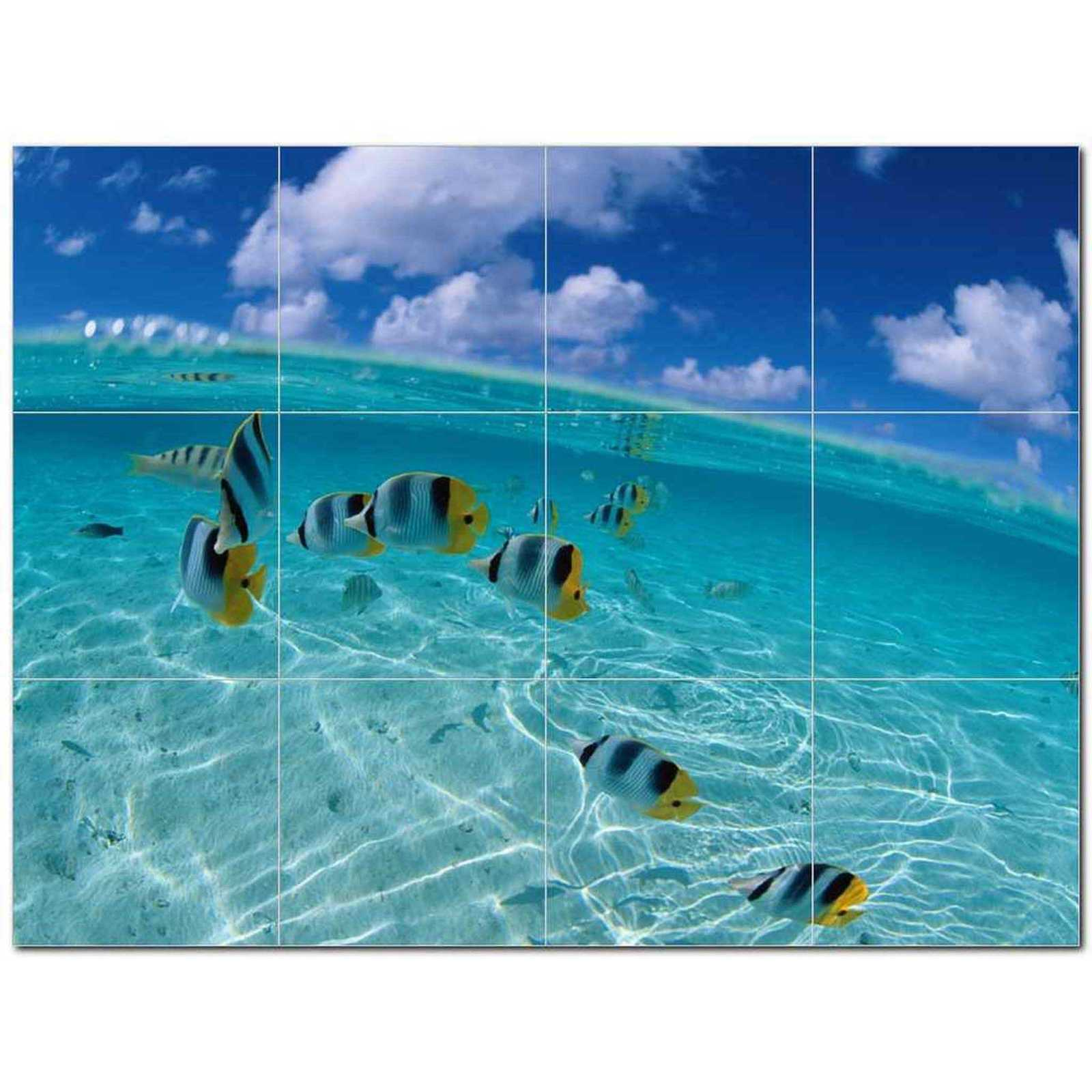 Primary image for Sealife Photo Ceramic Tile Mural Kitchen Backsplash Bathroom Shower BAZ405785