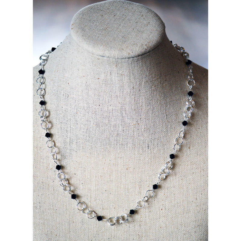 Crystal Beaded Chain Necklace
