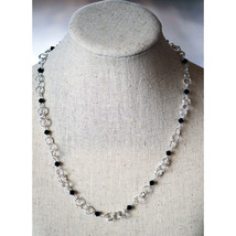 Crystal Beaded Chain Necklace image 1