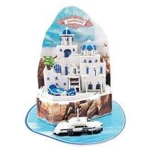 Greek 3D Puzzle | Santorini Island Greece | Kids Adult Construction Toy... - $14.99