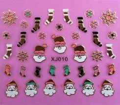 BANG STORE Nail Art 3D Decal Stickers Christmas Snowflakes Stockings Holidays - $3.67