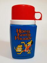 HONG KONG PHOOEY THERMOS Vintage 1975 Hanna Barbera CARTOON Lunch Box PL... - $38.99