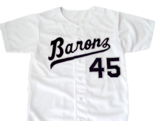 Michael jordan  45 birmingham barons button down baseball jersey white 2