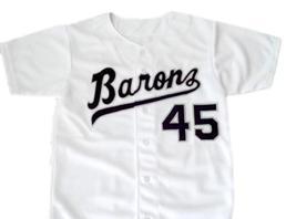 Michael jordan  45 birmingham barons button down baseball jersey white 2 thumb200