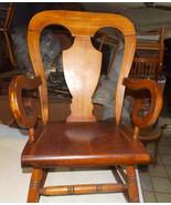 Mid Century Cherry Farmhouse Rocker / Rocking Chair by Virginia House - $399.00