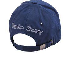 Psycho Bunny Men's Cotton Embroidered Logo Dovedale Baseball Cap Strapback Hat image 8