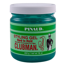 Clubman Pinaud Hard to Hold Styling Gel, 16 oz  (2 pack)