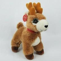 "Vintage Russ Starlight Reindeer 9"" Plush Deer Caress Soft Pets Christmas Holiday - $30.22"