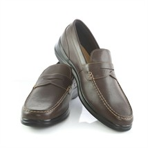 Cole Haan Grand OS Dark Brown Leather Stitched Penny Loafers Shoes Mens ... - $59.31