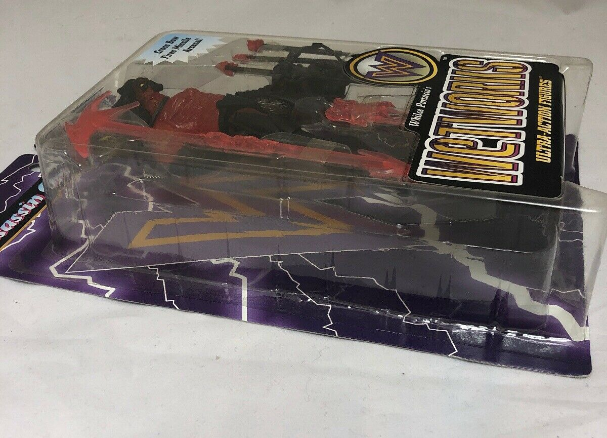 New Whilce Portacio Wetworks ASSASSIN ONE Red Action Figure 1996 McFarlane Toys