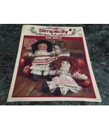 Rag Dolls Simplicity #3640 - $3.99