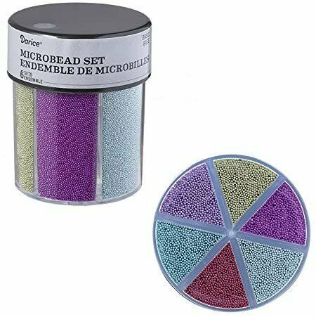 Primary image for Darice® 6-Color Microbeads Caddy Glitter